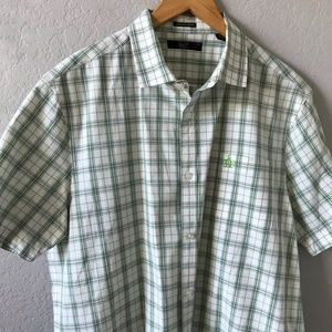 NWOT PENGUIN Plaid Heritage Slim Button Down XL